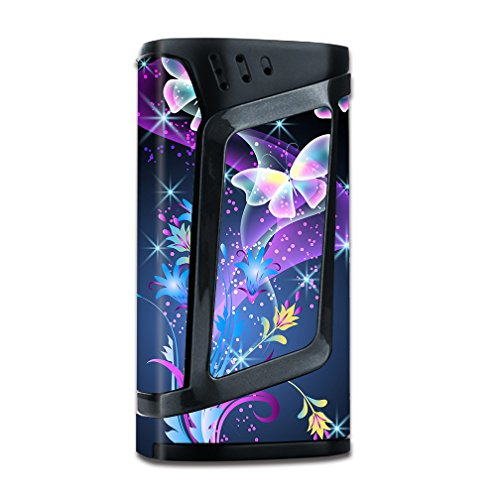 Skin Decal Vinyl Wrap for Smok Alien 220w TC Vape Mod stickers skins cover/ glowing butterflies in flight
