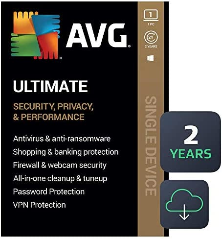 AVG Ultimate 2021 Antivirus Cleaner VPN 1 PC 2 Years Download product image