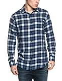 Jack & Jones JJVGRANBY Shirt L/S One Pocket Camisa, (Mood Indigo), Small para Hombre