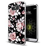 Rose Case for LG G5,Gifun [Anti-Slide] and [Drop Protection] Soft TPU Flexible Protective Case Compatible with LG G5 - Art Elegant Rose
