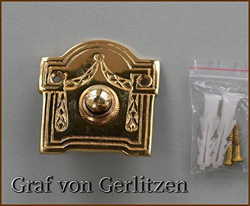 Graf von Gerlitzen Antik Messing Tür Klingel 1 Türklingel Klingelschild Klingelplatte Jugendstil K64P