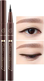 [FORENCOS] Tattoo All Proof Eyeliner 0.6g 4 Colors - All Day Long Lasting Brush Pen Eye Liner, Waterproof, Oilproof, Sweatproof, Easy Drawing, Natural Ingredients for Sensitive Eyes (02 Black Brown)