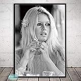 Brigitte Bardot Mode Poster Schwarz und Weiß Berühmte