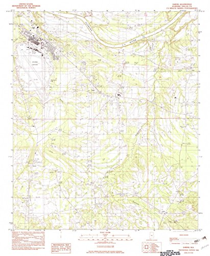 YellowMaps Sardis AL topo map, 1:24000 Scale, 7.5 X 7.5 Minute, Historical, 1982, Updated 1982, 26.7 x 21.9 in - Paper