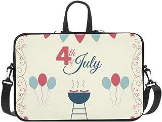 4th July USA Independence Day Briefcase Laptop Bag Messenger Shoulder Work Bag Crossbody Handbag for Business Travelling