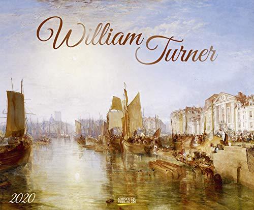 William Turner 2020: Kunstkalender, großer Wandkalender, Abstrakter Impressionismus. Querformat: 55x45,5 cm +Foliendeckblatt