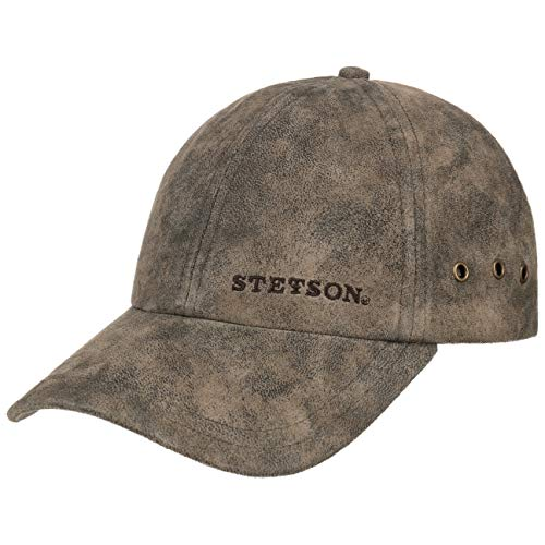 Stetson Men's Leather Baseball Cap (Brown)