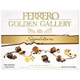 Ferrero Golden Gallery Signature Fine Assorted Chocolates, Candy Gift Box, 24 Count, 8.4 Oz (240g), Perfect Easter Egg and Basket Stuffers