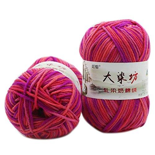 Nankod 50g 5Strähnen Milch Baumwolle Strickgarn Dick Crochet Warm Baby Pullover Schal, 16