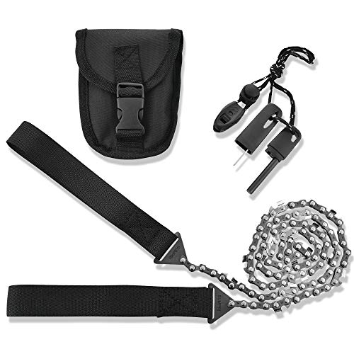 SUMPRI Pocket Chainsaw Survival Gear -36 Inch Long Chain &...