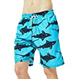 Coralup - Bañador para niños con cintura ajustable, transpirable, ligero, 12 meses a 14 años Azul azul 5-6 Años