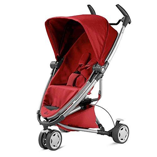 Quinny Zapp Xtra Buggy (superleicht, mit komfortabler Ruheposition, inklusive Einkaufskorb, Sonnen- und Regenverdeck, Sonnenschirmclip, Adapter für die Babyschale) rot