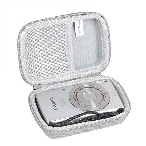Hermitshell Hard Travel Case for Canon PowerShot ELPH 180 20 MP Digital Camera (Grey)