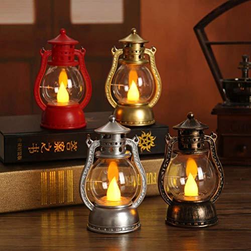 XYSQWZ Lanterne à Bougie LED, Lanterne Au KéRosèNe Vintage, Lanterne De Table Halloween pour DéCoration De FêTe d'halloween (1 PièCes, Style AléAtoire)