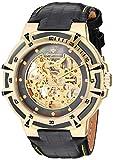 Burgmeister Herren Skeleton Automatik Uhr mit Leder Armband BM235-202
