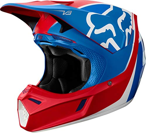 V3 Kila Helmet, ECE FOX Blue/Red
