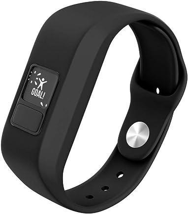 NotoCity Compatible Garmin Vivofit 3 Bands Soft Silicone Watch Band for Garmin Vivofit 3/Vivofit JR Smartwatch (Black)
