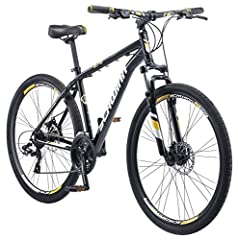 Schwinn aluminum dual sport frame with suspension fork creates a durable, lively ride for go-anywhere versatility 24-Speed Shimano EZ-Fire trigger shifters and front and rear Shimano derailleurs for high performance gear changes Schwinn mechanical di...