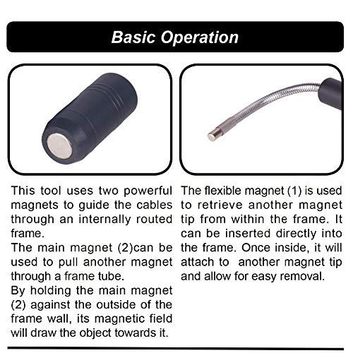 Alomejor MTB Internes Kabelführungswerkzeug Fahrrad Schaltzug Kabelsatz mit Magnet Abnehmbarer Kappe Drähten Fahrradzubehör - 6