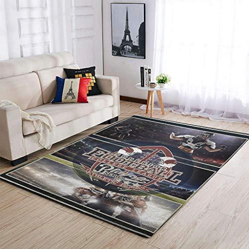 Bannihorse Alfombras de fútbol americano duraderas, modernas, suaves para interiores, para dormitorio infantil, color blanco, 50 x 80 cm