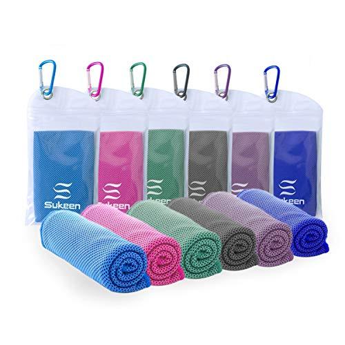Kühlendes Handtuch Mikrofaser Handtuch für sofortige Kühlung Entlastung, weiches atmungsaktives kühles Handtuch kühles Handtuch für Sport, Yoga,