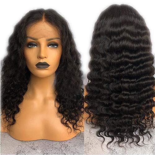 JPDP Brésilien Remy Vague Profonde Avant de Lacet Perruques de Cheveux Naturel Délié Avec Bébé Cheveux Pré Pincées Dentelle Perruques Pour Les Femmes 10 pouces couleur naturelle