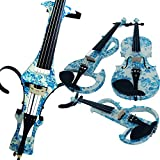 Leeche 100% Handmade Premium Electric Violin Full Size 4 4 Professional Silent Violin For Student Solid Wood(DSZA)