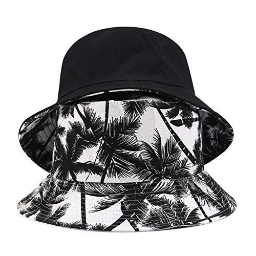 JUIC Frauen und Männer drucken Leinwand zweiseitig im Freien Eimer Hut Sonnenhut Kappe Fischerhut, BK, eine Größe