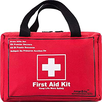 First Aid Kit Survival Kit 130 Pcs,Complete & Compact Medical Emergency Kit Lightweight,First Aid Kit for Car,Home,Camping,Workplace,Hiking & Survival.