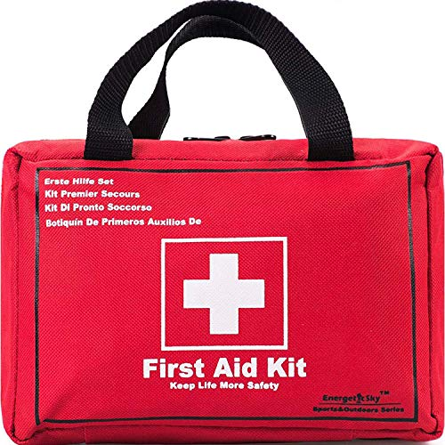 First Aid Only All-Purpose First Aid Kit,130 -Piece Survival Kit,Be Prepared for Office,Home,Car,School,Emergency,Survival,Camping,Hunting and Sports.- by EnergeticSky