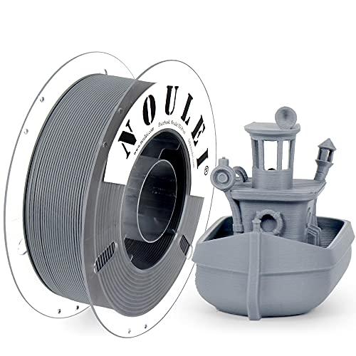 Noulei Mate PLA Filamento para impresora 3D 1.75mm, Gris Hierro, 1 kg Spool