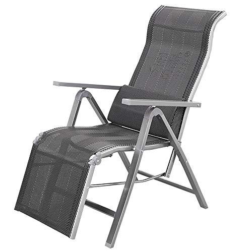 DANDAN-Deckchairs Klappbare Metallliege Einstellbare Büro Mittagspause Siesta Bett Multifunktions-Haushalt Tragbarer Balkon Lounge Chair Gartenliege Im Freien