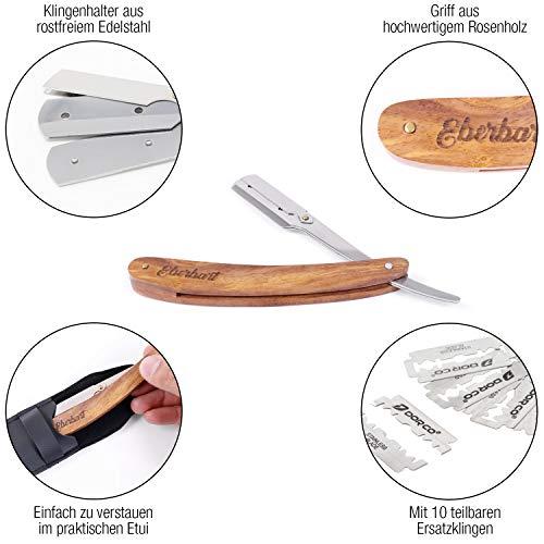 Eberbart Rasiermesser, Wechselklingenmesser mit Griff aus Rosenholz  Abbildung 2