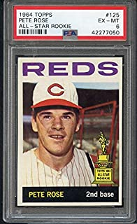 1964 Topps #125 Pete Rose Reds PSA 6 EX-MT 368639 Kit Young Cards