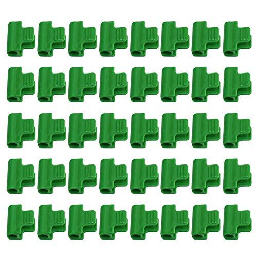 MOVKZACV 20/40 Stück Klemmen für Gewächshaus, Folie, Abdecknetz, Tunnel-Clips, Schuppenfolie, Schattierungsnetz, Stangen-Clip für 11 mm Rohre