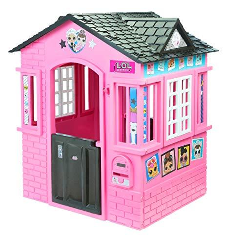 little tikes 650420M Kinder Spielhaus mit Glitzer im L.O.L. Surprise! Design - mit Fenstern und Türen, ideal für drinnen und draußen, extra robust und wetterfest, pink