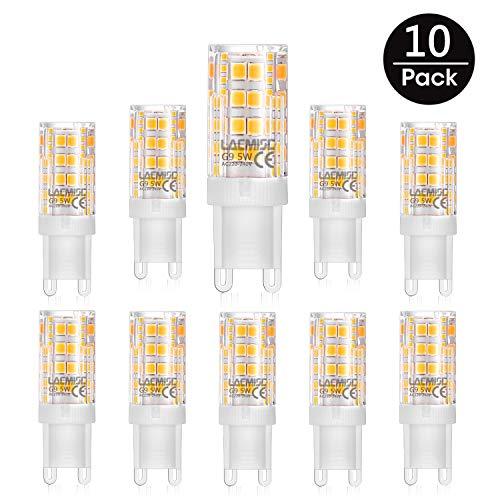 Lacmisc G9 LED Lampen 5W 350LM warmweiß Umweltfreundliche Lampe Ersatz für 40W Halogenlampen Kaltweiß 3000K, 360° Abstrahlwinkel, AC220-240V - 10er Pack Birnen