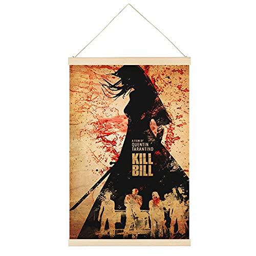 Cuadro clásico de la película Kill Bill 1, marco de la oficina, carteles de desplazamiento, lienzo decorativo para la pared, decoración de la habitación, 30,5 x 45,7 cm