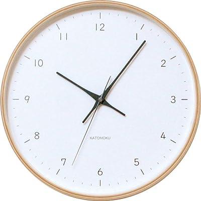KATOMOKU plywood wall clock 12 km-80NRC ナチュラル 電波時計 連続秒針 φ304mm