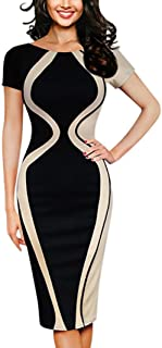 Summer Dress Fashion Womens Mini Dress Sexy Bodycon Short Sleeve Party Business Style Pencil