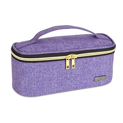Luxja Nagellack Aufbewahrung Tasche, Nagellack Box, Aufbewahrung für Nagellack-Hält 12 Flaschen (15ml - 0,5 FL.oz), Aufbewahrungstasche für Nagellacke und Kleine Werkzeuge, Lila