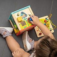 TOP BRIGHT Cubo Multiattività Legno 5 in 1 – Cubo Interattivo - Giochi Bambini 1 Anno, 2 Anni – Gioco Incastri con Forme Legno per Lo Sviluppo Cognitivo #5