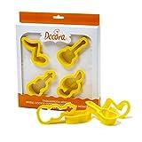 Decora 0255401 - Set di 4 stampini per biscotti, in plastica, 26,5 x 23,5 x 3 cm