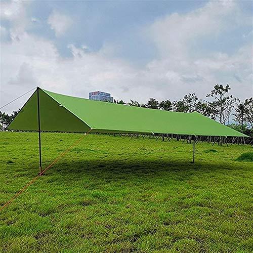 HNXCBH Ultralight 15D Silicon Tarp Outdoor-Camping-Überleben Sun Shelter Schatten Markise Silberbeschichtung Pergola wasserdichtes Zelt Sonnensegel Rechteckig (Color : 15D Light Green, Size : 3 * 4M)