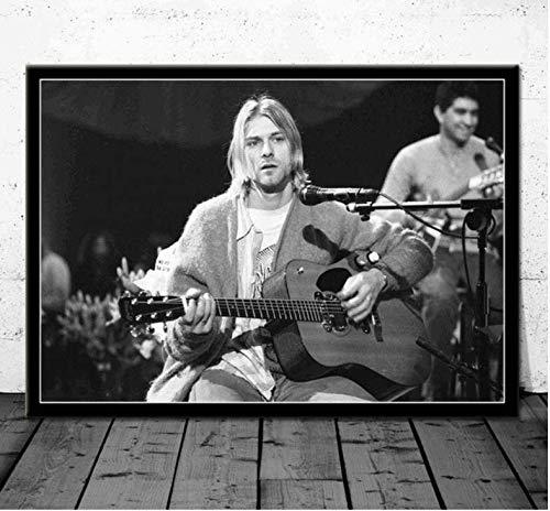 NVRENHUA Cartel Arte Kurt Cobain Nirvana Band Cantante