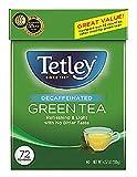 Tetley Natural Decaf Green Tea, Decaffinated Tea, 72 Tea Bags (Pack of 6), Rainforest Alliance Certified