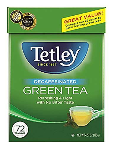 Tetley Green Tea, Decaffeinated, 72 Tea Bags (Pack of 6) (Packaging may vary)