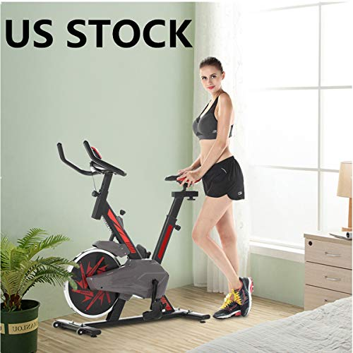 OOEOO Indoor Spin Bike Heavy Duty Flywheel Stationary Bike Ultra-Quiet...