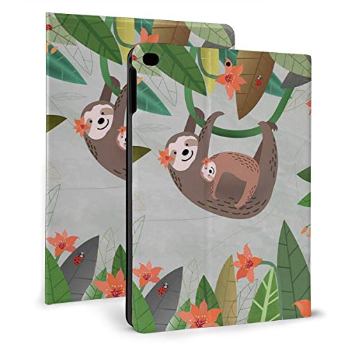 Case Ipad 9.7 Inch 2017/2018 (Mini4/5) - Soft Leather Stand Folio Case Cover For Ipad 7.9 Inch, With Multiple Viewing Angles, Auto Sleep/Wake, Cute Sloth