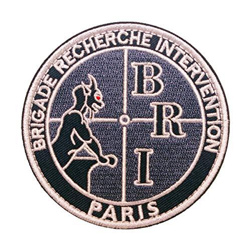 Cobra Tactical Solutions - PVC Patch Bri Brigade Recherche Intervention Paris con Cierre de Velcro para Airsoft, Paintball, Ropa táctica y Mochila